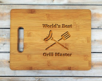 Personalized Cutting Board | Cutting Board | Laser Engraved | Housewarming Gift | Grill Master | Fathers Day Gift | Grill | BBQ