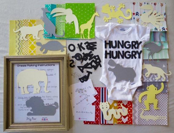 Diy Onesie Decorating Kit Jungle Safari Gender Neutral Etsy