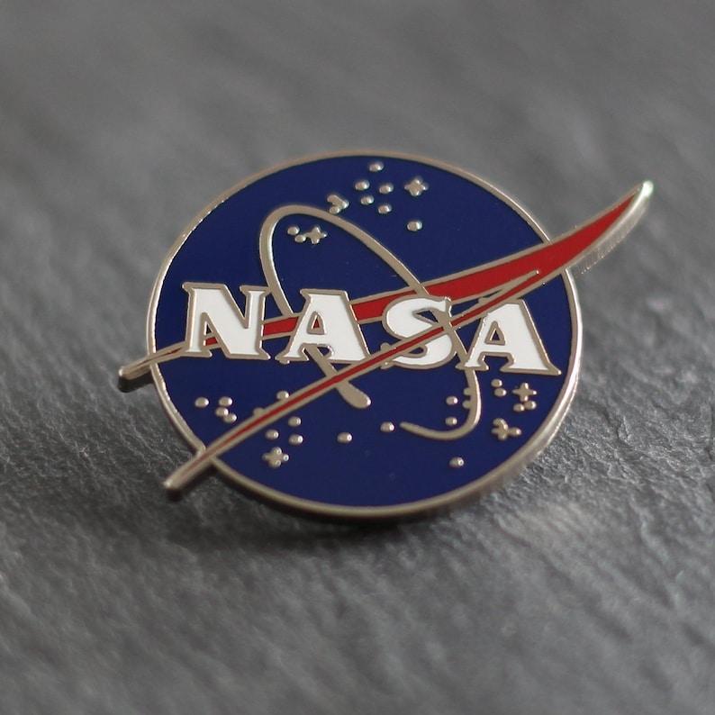 0309a4d65 NASA Enamel Pin Astronaut / Space Lapel Pin for Jackets image ...