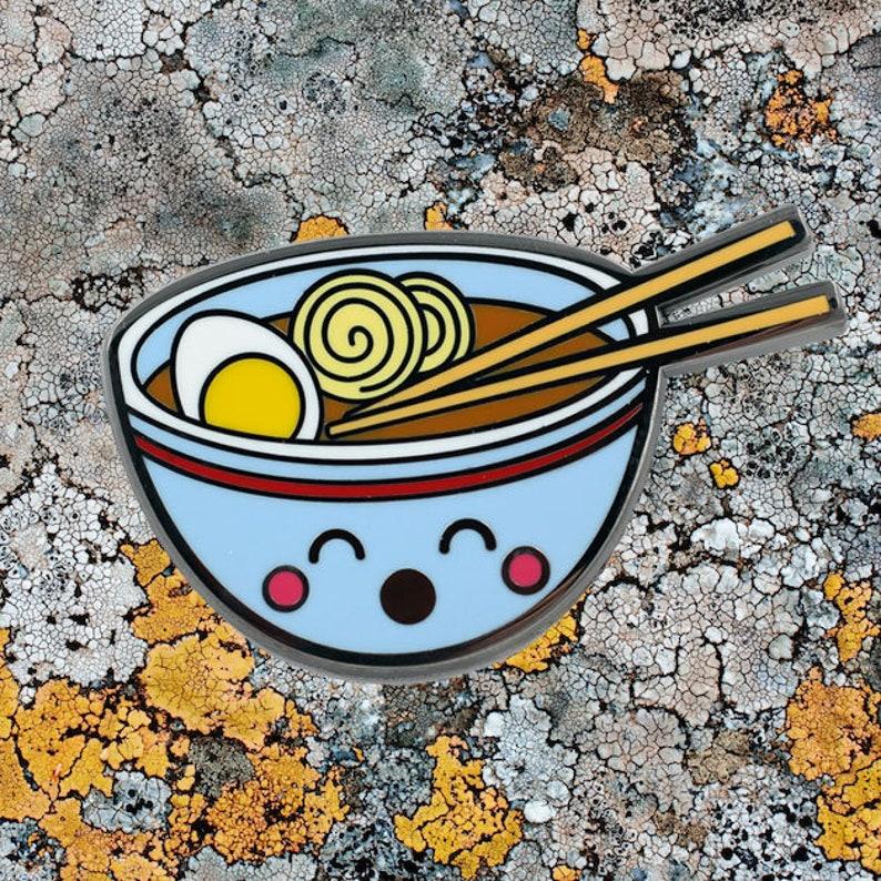 1969db29c Ramen Enamel Pin Super Cute Ramen Noodle Pin Kawaii Food | Etsy