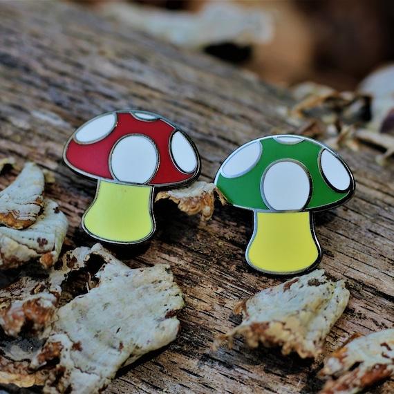 Mushroom Emoji Trippy Pin Mario Retro Gamer Nintendo Etsy
