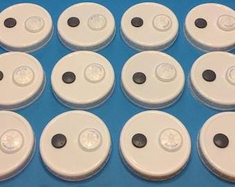 12 Liquid Culture Autoclavable Plastic Wide or Regualr Mouth Jar Lid Gasket Mushroom Growing Cultivation Injection Port