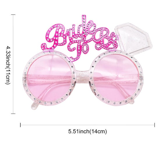 Pink  Tiara with White Veil /& Sunglasses Hen Party Accessory