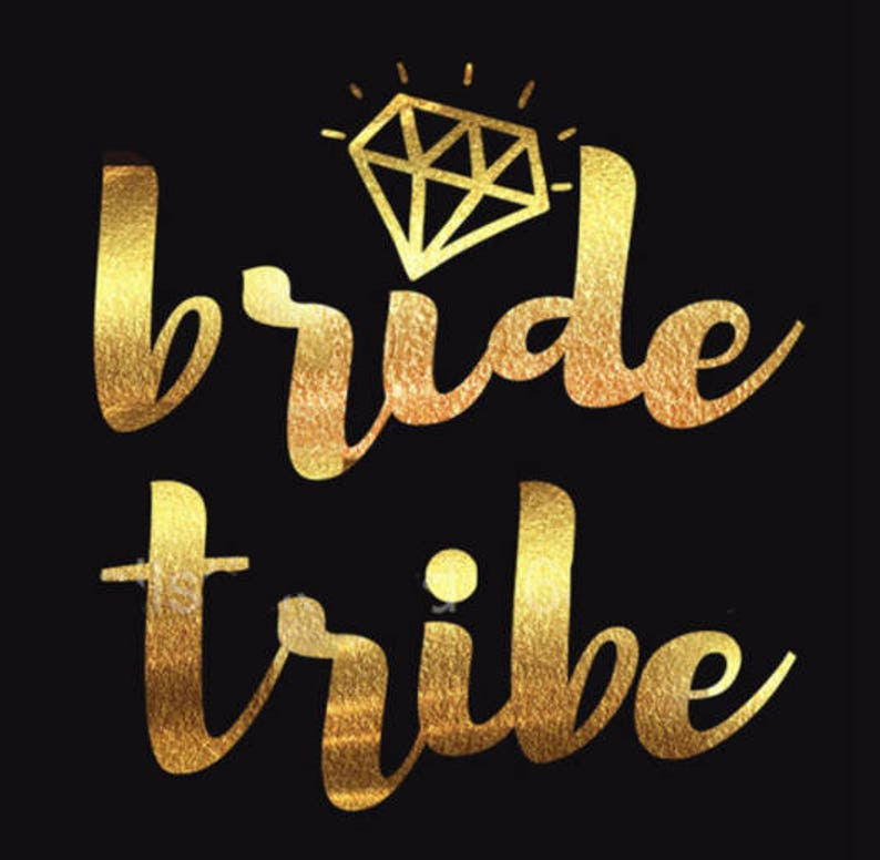 Hen Tattoo Party Favours Gold Foil Metallic Bride Tribe Favors Bachelorette Bag \u2013 Bride Tattoo Team Bride Tattoo \u2013 Bridal Shower