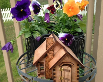 1:48 Scale Wooden Fairy house; Finished or kit; open back