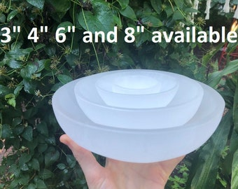 Pick your size, Selenite Charging Bowl / Altar Bowl / Ritual Bowl / Extra Large Bowl, CrystalsAhoy, Ethically Mined