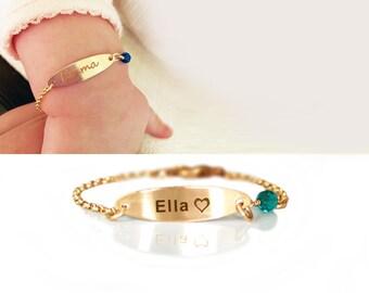 f22043ad7eba2 Baby name bracelet | Etsy