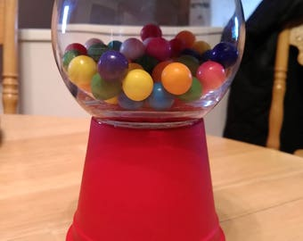 Old fashioned gumball machine candy dish
