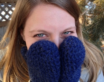 Women's Warm Woolen Mittens (PATTERN ONLY)