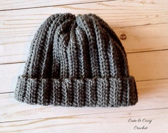 Men's Wool Ribbed Hat (PATTERN ONLY)