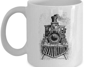 vintage train mug train mugs train coffee mug train lover gifts gifts for train lovers train lover christmas gift train gifts