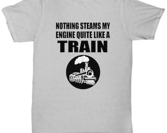 788337930 STEAMS MY ENGINE Funny Train T-shirt - Train Shirts
