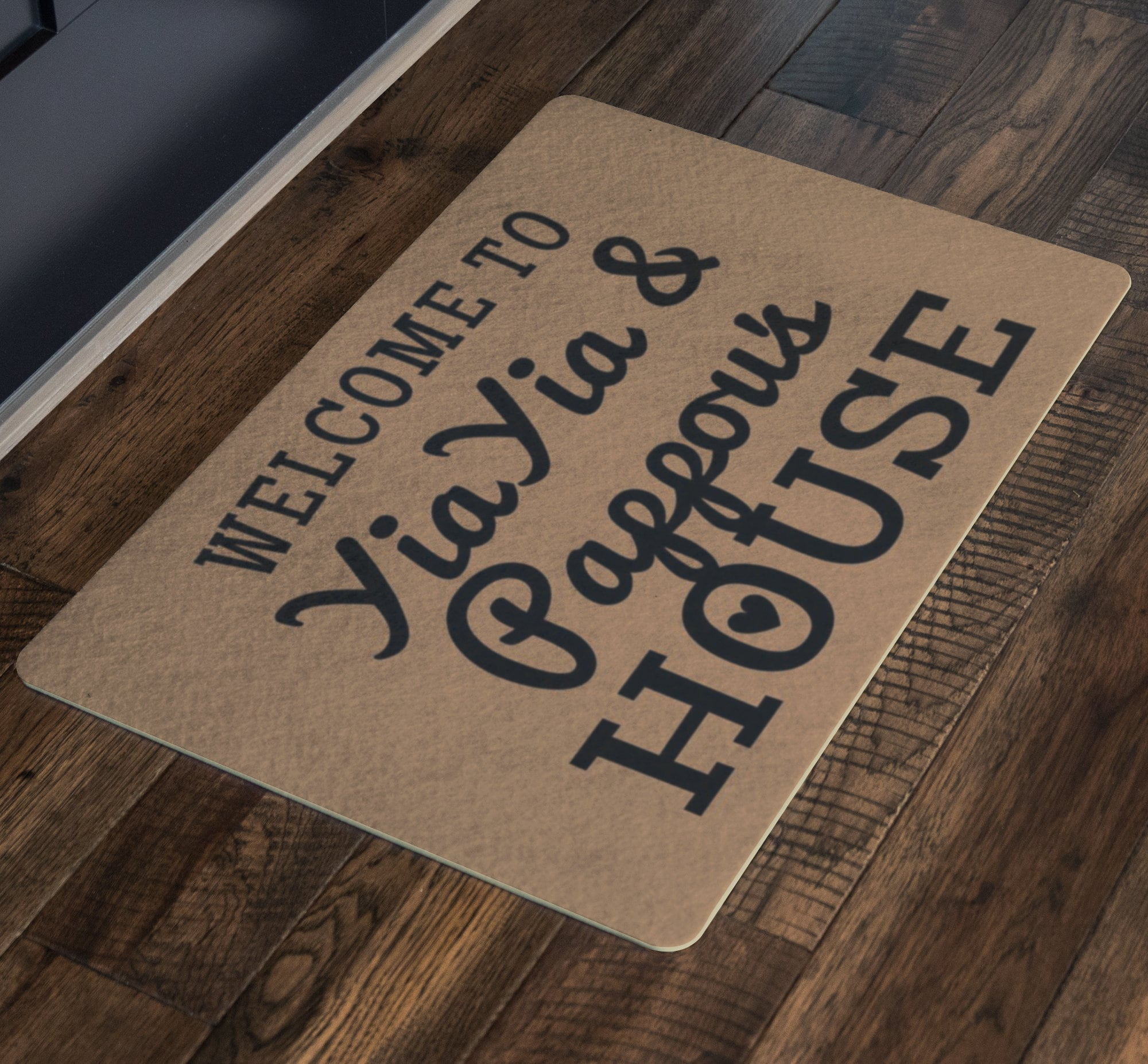Welcome To YiaYia And Papa/'s House Doormat YiaYia and Papa Christmas Grandparents Day Gift YiaYia and Papa gift Cute Grandparents Gift