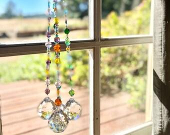 Crystal Suncatchers, Cut Glass Beads, Window Decor, Rainbows, Sunlight, Spark Joy, Gift Giving