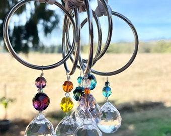 Crystal Suncatchers, Cut Glass Beads, Rearview Mirror, Car Mirror, Window Decor, Rainbows, Sunlight, Spark Joy, Gift Giving