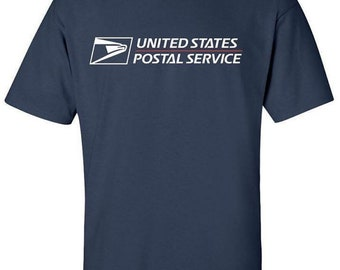 usps postal t shirts dark navy full 2 color postal logo on chest all sizes s-3x