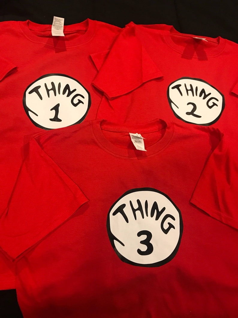 thing 1 and thing 2 t-shirts nice cute new kids adults thing one two Halloween