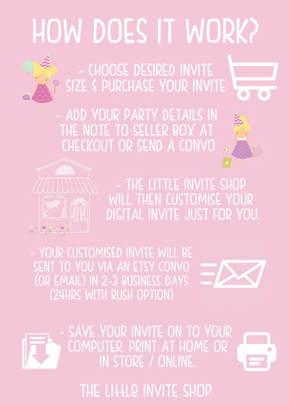 Girls Mermaid Invite