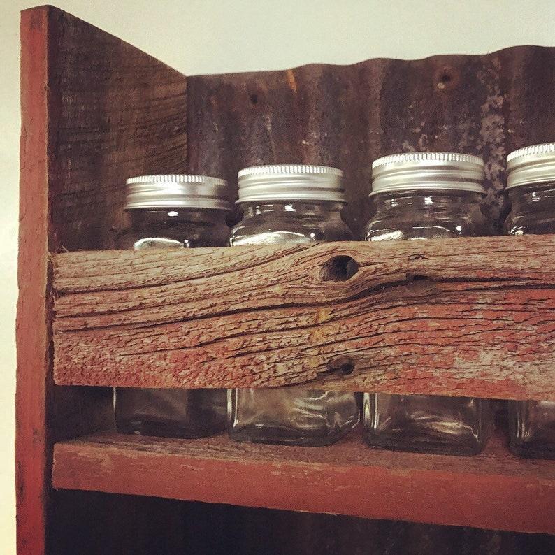 Mason Jars Spice Rack Rustic Spice Rack Kitchen Spice Rack Rustic Mason Jar Spice Rack Display Mason Jar Spices Chalkboard Labels