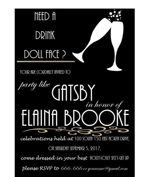 Große Gatsby Einladung | Etsy