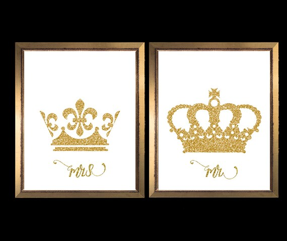 king and queen crown king crown queen crown crown etsy