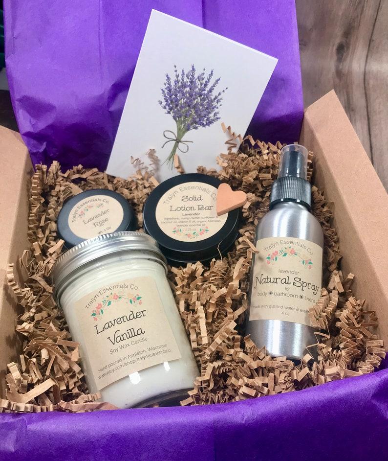 Lavender gift set birthday gift for her gift for mom nurse image 0