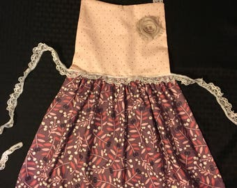 Pink and Purple Little Girl Apron