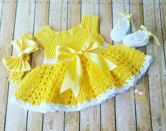 afb9b2698 Crochet baby dress