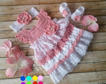 Crochet baby dress | Etsy