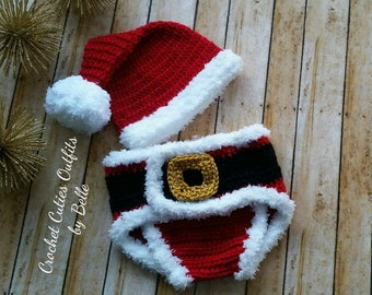 5120e2976 Christmas Baby Outfit, Crochet Baby Outfit, Newborn Santa Outfit, Baby  Photo Prop, Newborn Photo Outfit, Newborn Boy Photo Outfit Clothes