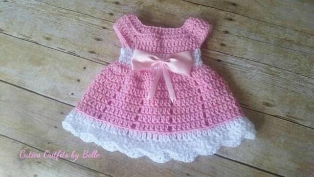 Crochet Baby Dress Pattern Free Crochet Pattern Newborn Baby   Etsy