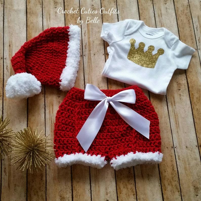 e4eb5d000bc16 Tenue de bébé Noël tenue de bébé au Crochet Baby tenue de
