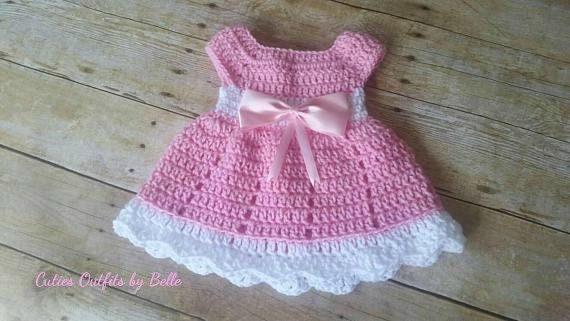 Crochet Baby Dress Pattern Free Crochet Pattern Newborn Baby Etsy Custom Crochet Baby Dress Pattern