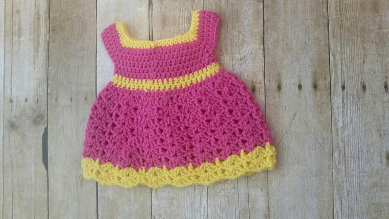 b171d65bd Pink Crochet Baby Set Infant Baby Dress Handmade Baby Girl