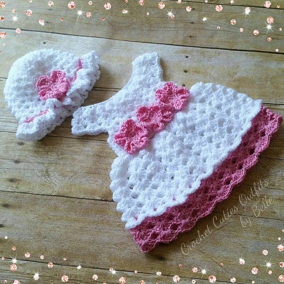 ae4581e6428ce Crochet Baby Dress Pattern Free Crochet Pattern Newborn Baby | Etsy