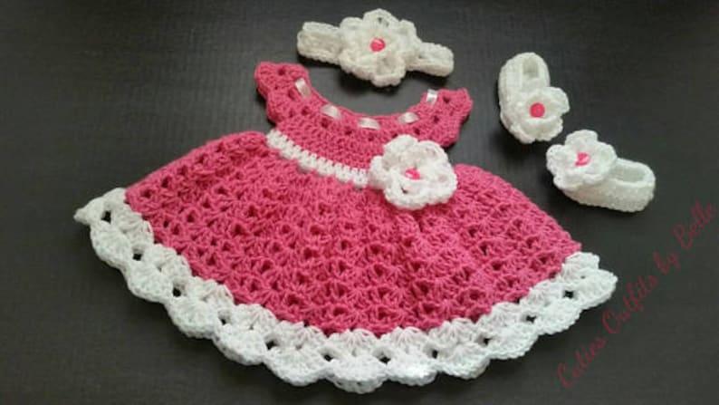 27d8d3aee Pink Crochet Baby Set Infant Baby Set Handmade Baby Girl