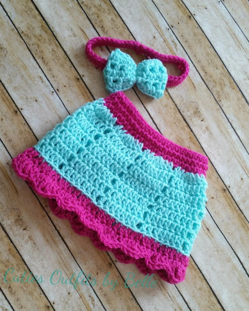 Crochet Baby Skirt Pattern Free Crochet Pattern Newborn Baby Etsy