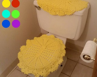 SALE! Toilet Seat Cover, Lid Cover for Toilet Seat, Cover for Bathroom,Handmade Toilet  Tank Cover, Crocheted Lid Cover, Crochet Tank Covers