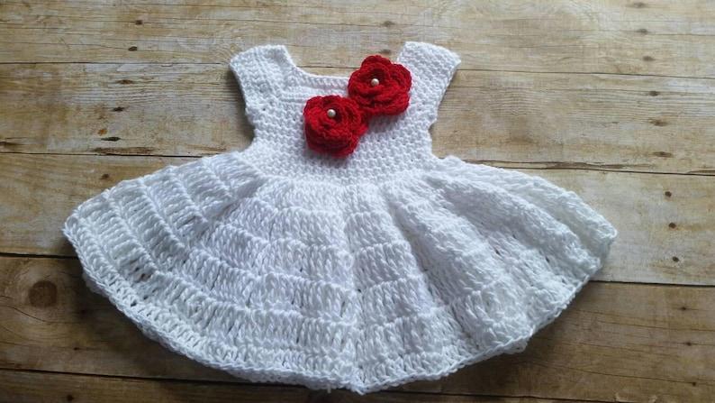0ec1720959f5 Baby Dress White Baby Dress Christening Baby Girl Dress | Etsy