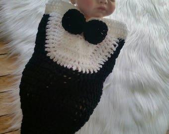 Baby Boy Photo Prop Outfit, Crochet Newborn Photo Prop, Baby Boy Clothes, Boy Photo Outfit, Cocoon Photo Prop, Little Gentleman Outfit