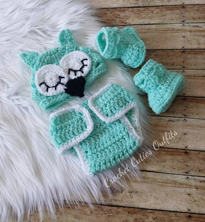 Baby Boy Outfit Baby Girl Hat Booties Diaper Cover Crochet Etsy