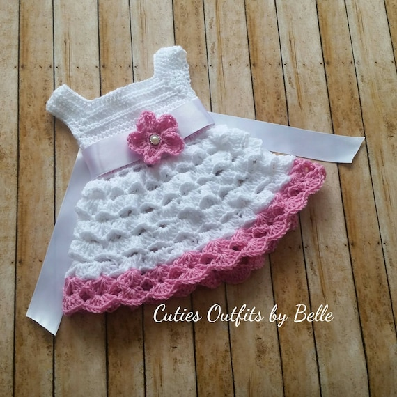 Pink Crochet Baby Dress Pattern Free Crochet Pattern Newborn Etsy