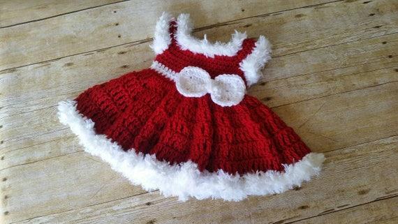 Baby Kleid Häkeln Babykleid Rot Babykleid Weihnachten Baby Etsy
