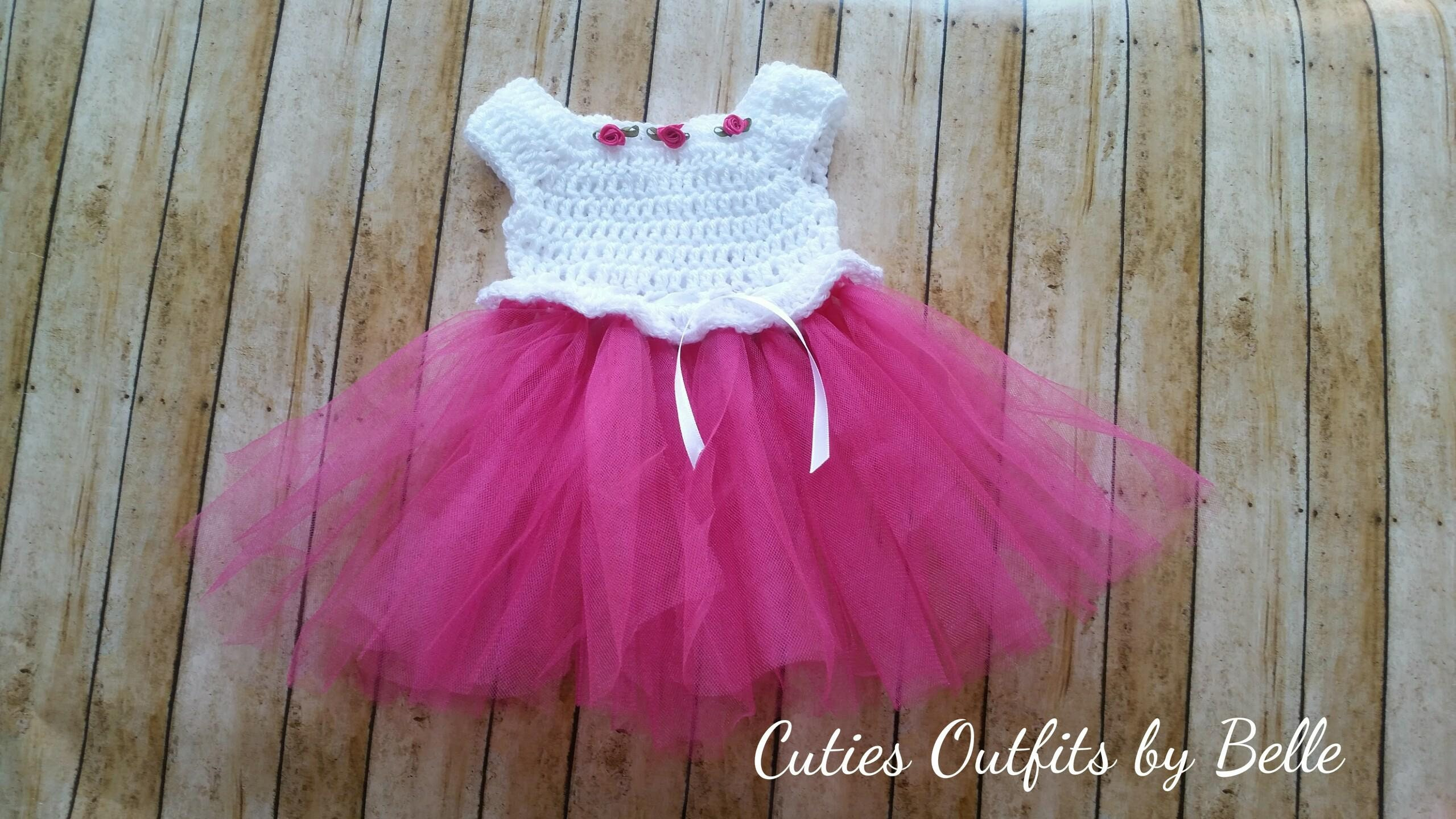 Crochet Baby Dress Pattern Free Crochet Pattern Newborn Baby Etsy