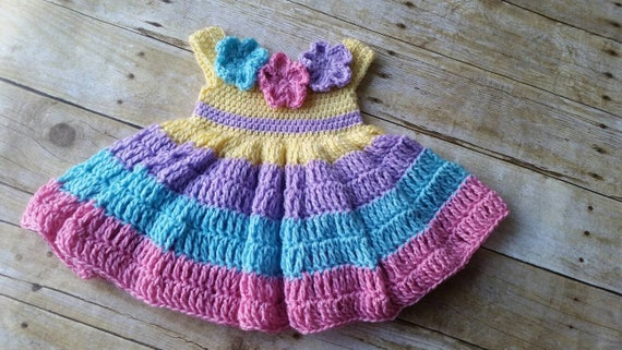 4e62e299e New Baby Dress Handmade Baby Girl Dress Crochet Baby Dress | Etsy