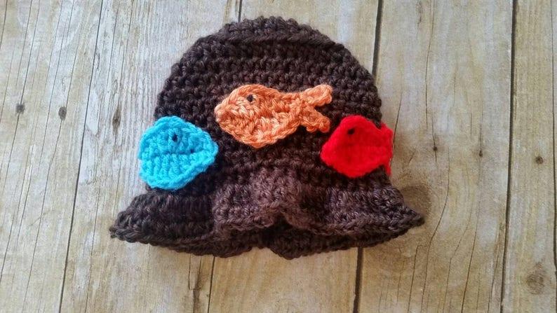 288fc9ffa0d Baby Boys Fish Hat Baby Hat Fishing Boys Hat Handmade Baby