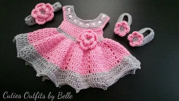 3 Pc Häkeln Babykleid Baby Baby Baby Mädchenkleid Etsy