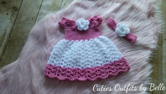 Baby Kleid Handgefertigte Baby Mädchenkleid Häkeln Etsy