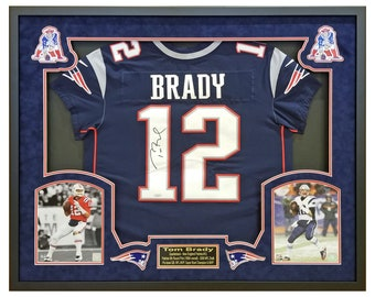 58b10af56a6 Tom Brady New England Patriots Signed Jersey   Beautifully Framed in a  Custom Shadow Box w Certificate of Authenticity