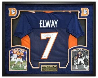 8a0dc35f John Elway Autographed Jersey, John Elway Broncos Framed Signed Jersey, Denver  Broncos Shadow Box Frame w Beckett COA
